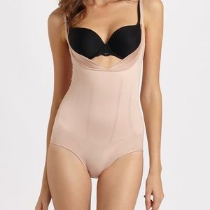 SPANX slimmer and shine open bust brief suit